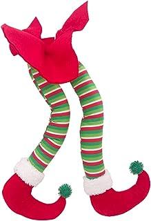 "Fowecelt 20"" Plush Elf Legs for Christmas Decorations Stuffed Legs for Christmas Tree Home Party Wreaths Decor"