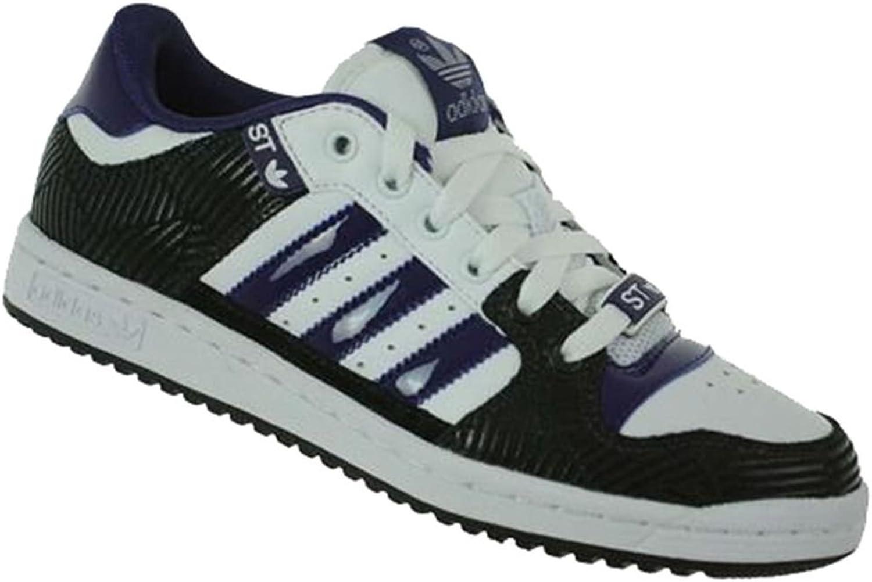 Adidas Decade Low ST Women Originals Leisure Trainers White Black Purple