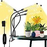 Lámpara de Plantas, LED Lámpara Bombillas Luces de planta espetro interior automático con niveles de temporizador de 3/6/12H,para Siembra en Crecimiento, Germinación y Floración
