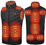 Gilet riscaldante riscaldante riscaldato gilet elettrico riscaldato per uomini / donne, ricarica USB, scaldabagno lavabile, 3 temperature regolabili gilet giacca (colore: nero, taglia: 3XL )