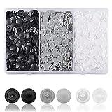 DesertBoy Cerca de 900 piezas tapas de rosca Pozi Cubierta de Tornillo de Plástico Ajuste el tornillo Phillips de 7-8 mm (negro, blanco, gris)