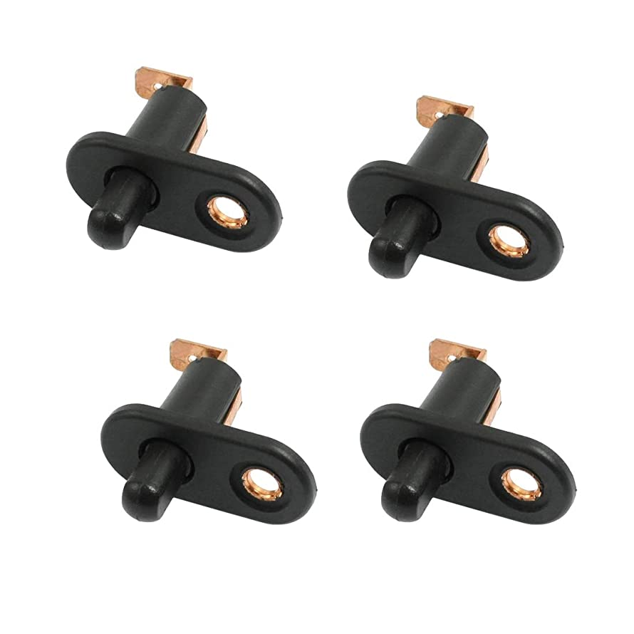 Autoly 4pcs Car Vehicle Interior Door Jamb Courtesy Light Lamp Switch Button Black for Car