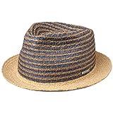 Stetson Cappello di Paglia Kamano Toyo Player Donna/Uomo - da Sole Estivo Primavera/Estate - XXL (62-63 cm) Natura-Blu