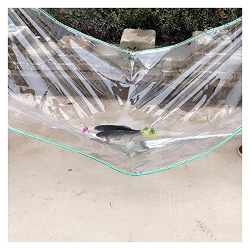 XJJUN Cubierta De Lona Impermeable, Balcón De PVC Transparente Lluvia Y Tela Impermeable, Lona para Exteriores A Prueba De Viento (Color : Claro, Size : 0.5x2m)