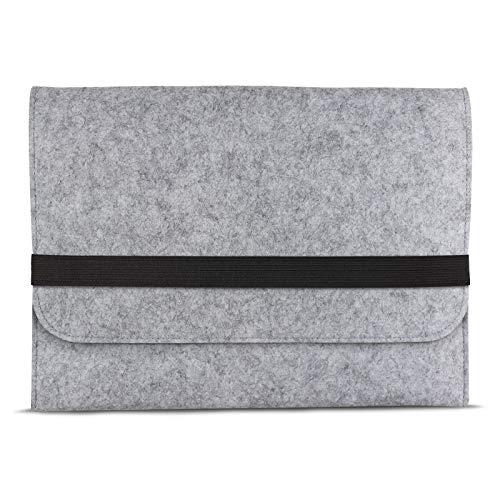 eFabrik Schutztasche für Acer Swift 1 SF113-31 Tasche aus Filz 13,3 Zoll Filztasche Case Sleeve Soft Cover Schutzhülle Sleeve, Farbe:Grau