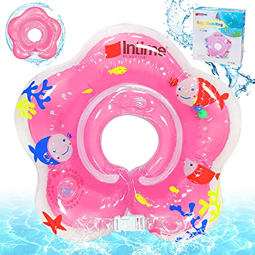 Sunshine smile Baby Swimming Ring, Inflatable Swimming Ring, Doppelgriff-Design, Swimming Trainer, Inflatable Baby Swimming Aid mit Sicherheitsschnalle, Baby Schwimmhilfe