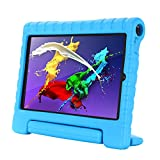 Kavon Funda para Lenovo Yoga Tab 5 YT-X705F 10.1 Pulgadas,Soporte de Mango Convertible a Prueba de Golpes EVA, Cubierta Protectora para Tableta Ligera para Niños (Azul)
