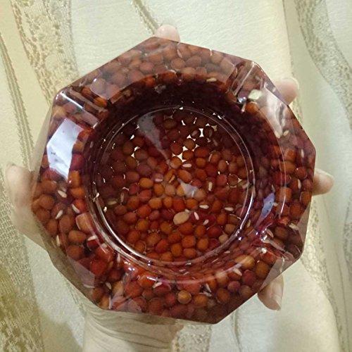 SFSYDDY Pure Handgemaakte Kristallen Lijm Asbakken Afgewerkte Producten Mode Creatieve Rode Bonen Woonkamer Ktv