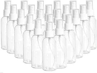 20 Pack 2.7oz Fine Mist Clear Spray Bottles Refillable & Reusable Empty Plastic Travel Bottle for Essential Oils, Travel, Perfumes