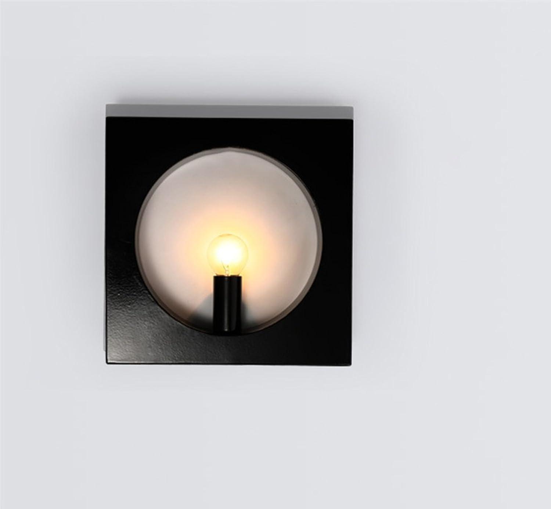 SPFOZ Schwarzweiss-Wand-Lampen-Moderne einfache Schlafzimmer-Nachttischlampen-geführte Gang-Korridor-kreative im Freien (Farbe   schwarz)