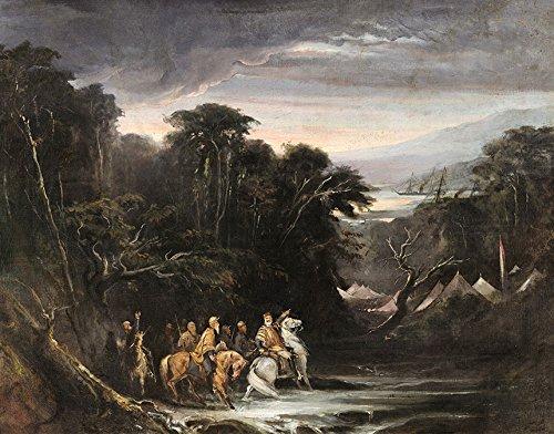 Passagem do Chaco Guerra do Paraguai Manobra de Piquissiri Duque de Caxias Pintura de Pedro Américo na Tela em Vários Tamanhos (51 cm X 40 cm tamanho da imagem)