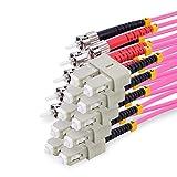 TPFNet 5 Piezas 10m Cable de Fibra Optica Duplex Multimodo OM4 ST/SC - 50/125µm