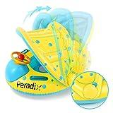 Peradix Flotador para Bebés,Flotador de Natación para Bebés Barco Inflable Flotador para 6-36 Meses Niños Bebé Anillo de Natación con Asiento con Asiento Respaldo