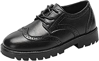 Toddler//Little Child CENCIRILY Toddler Kid Boys Girls Comfort Oxford Leather Shoes Lace Up School Uniform Dress Shoes