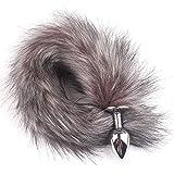 Bad Dragon Men sẹxy Game Bụtt Plụg Exotic Accessories Metal Feather Anạl Tọys Tail Erotic Anus Tọy sẹx Woman-White