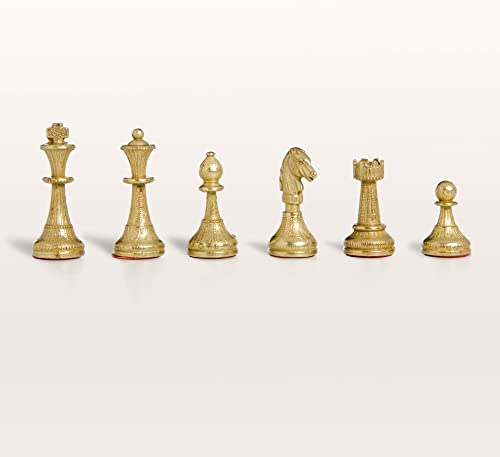 Florentine Brass & Silber Chess Pieces by Cambor Games