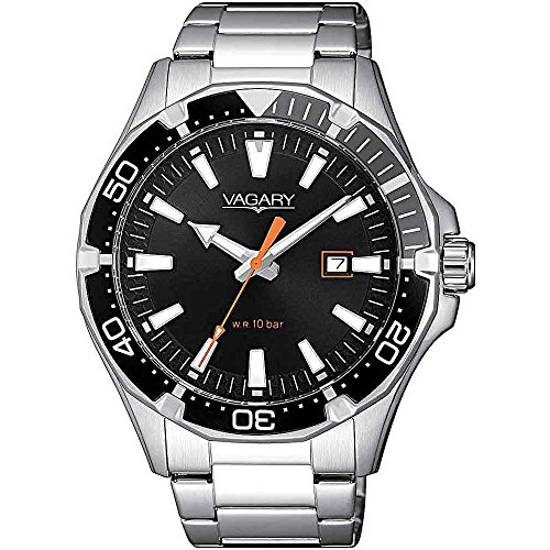 Orologio uomo Vagary by Citizen Acqua39 Black Steel ref. IB8-411-51
