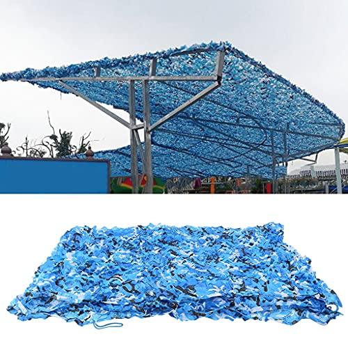 FKDENET Red de Camuflaje Toldo al Aire Libre Camuflaje Neto Azul, Camuflaje con Malla para sombrilla, Camping, Cubierta de Coche Oxford Polyester Net (Size : 7x7m/23ftx23ft)