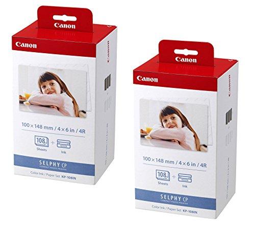 2x Original Canon Multipack KP-108IN KP108IN für Canon Selphy CP 910 - 100x148mm, 108 Blatt, 3x Kartusche Farbig -
