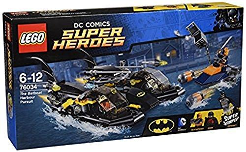 LEGO - 76034 - DC Comics Super Heroes - La Poursuite en Batboat dans le Port