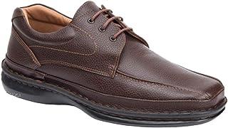 CACTUS Zapato Cordones Uniformes Piel Tallas GRANDES-4001 (Marron, 49)