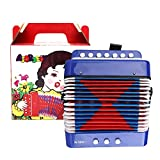Fisarmonica a bottoni per bambini, fisarmonica per bambini blu, ABS ecologico 2 bassi per ...