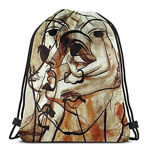 GL-DY Bolsa con cordón Multi Imagen Hombre Vintage (1899) Francis Picabia Gym Sack School Bag para mochila
