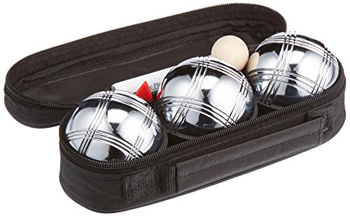 Softee Equipment 0009762 Set Juego Petanca Profesional, 3 Líneas, Blanco, S
