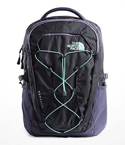 The North Face Women's Borealis Backpack, Greystone Blue Ripstop/Mint Blue