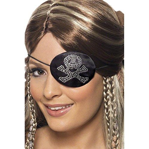 NET TOYS Cache-œil de Pirate Accessoire pour Costume de Pirate Bijou de Pirate déguisement de Pirate Accessoire