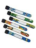 ID Safety Wristbands Infobands Bracelets for Kids Child Travel Event Field Trip, Outdoor Activity, Reusable Adjustable(Set of 6 Boy)