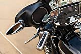 Kuryakyn 6122 Motorcycle Handlebar Accessory: Heavy Industry Grips with End Caps for Electronic Throttle Control: 2008-19 Harley-Davidson Motorcycles, Chrome, 1 Pair