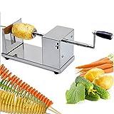 demiawaking New Manuelle Edelstahl Spirale Kartoffelsalathobel Kartoffel Tower Küche Werkzeug