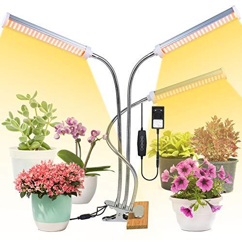 deaunbr 150W LED Pflanzenlampe, 315 LEDs Vollspektrum Pflanzenlicht, Grow Lampe 3 Arten Lichtmodus 5 Stufen Helligkeit Pflanzenleuchte 3H/6H/12H Timing-Funktion für Garten Zimmerpflanzen