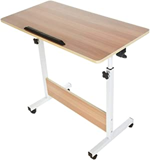 Adjustable Folded Laptop Side Table— Han Shi Wooden Side Table Desk Modern Fully Ergonomic Furniture for Home Office Sofa (6700g, White)