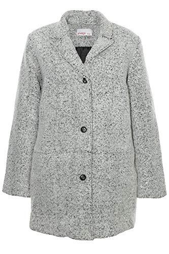 Sheego Mantel Kurzmantel Jacke Parka Gefüttert Damen Plusgröße Übergröße, Farbe:grau, Damengrößen:46
