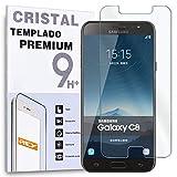 REY Protector de Pantalla para Samsung Galaxy C8 / Galaxy C7 Plus, Cristal Vidrio Templado Premium