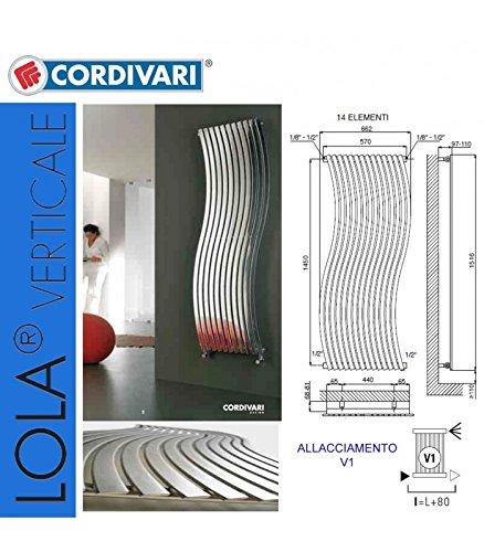 Cordivari lola radiatore monocolonna 1516x14 inox satinato.