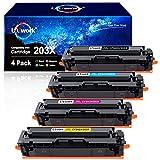 Uniwork 203X Toner Kompatibel für HP 203X 203A CF540X CF543X CF540A für HP Color Laserjet Pro MFP M281fdw-M254dw-M254nw-MFP M281fdn-MFP M280nw-M254dn-M281cdw (Schwarz Cyan Magenta Gelb, 4-Pack)