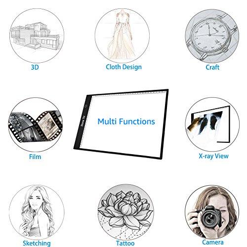 Mesa de Luz Dibujo A4, LED Tableta de Luz de Iluminación de la ...