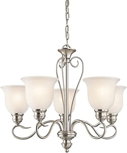 high quality Kichler wholesale discount 42906NI Tanglewood Chandelier 5-Light, Brushed Nickel online
