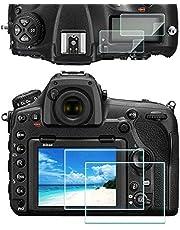 D850 Top PET szkło ochronne na ekran LCD do aparatu Nikon D850 [2 paczki], ULBTER 0,3 mm twardość 9H szkło hartowane wygaszacz ekranu anty-odciski palców przeciw powstawaniu pęcherzyków powietrza przeciwpyłowa