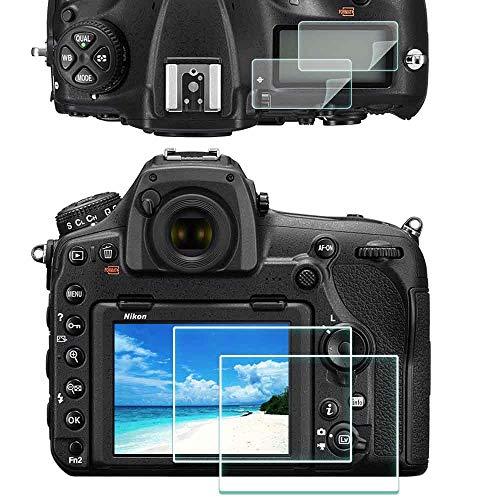 D850 Protector de Pantalla para Nikon D850 y Superior Pet,ULBTER 0,3 mm Dureza 9H Vidrio Templado Antiarañazos Antihuellas Antiburbujas Antipolvo, 3 Unidades