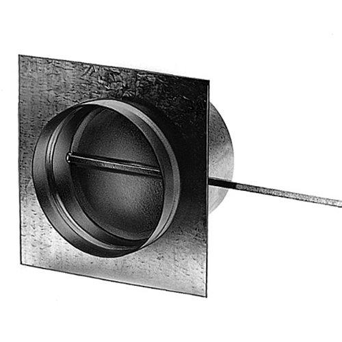 UPMANN GmbH & Co. KG, Rietberg Zuluftklappe mit Gummidichtung und Flanschplatte, ø 180 mm, verzinkt
