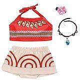 Baby Girls Princess Adventure Bathing Suit Halter Bikini Sets Swimsuit Swimwear Fancy Dress Costume Orange