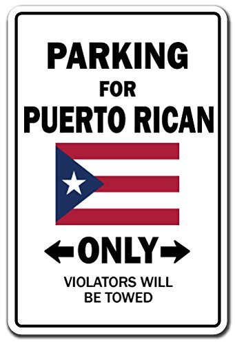 Parking for Puert Rican Only National Pride Decal   Indoor/Outdoor   Funny Home Décor for Garages, Living Rooms, Bedroom, Offices   SignMission Puerto Rico Flag National Pride Love Decoration