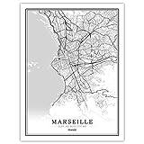 Lonfenner Leinwand Bild,Marseille Frankreich Abstrakte