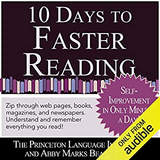 Couverture de 10 Days to Faster Reading: Jump-Start Your Reading Skills with Speed reading