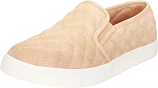 Cambridge Select Women's Round Toe Quilted Stretch Slip-On Flatform Fashion Sneaker