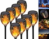 QDY -Luz De Llama Solar, 12 LED Lámpara Solar Antorchas De...